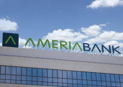 Ameria Bank Channel Letter sign