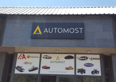 Automost , Building outdoor sign