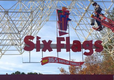 Channel Letter Signs iSix Flags