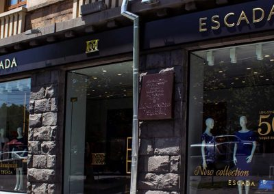 ESCADA store building sign