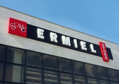 Ermiel store building sign