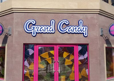 Grand Candy shop sign