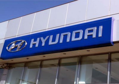Hyundai automagazine building sign