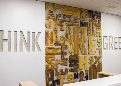 creative wood design for interior sign