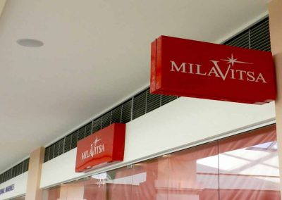 indoor light box signs for stores