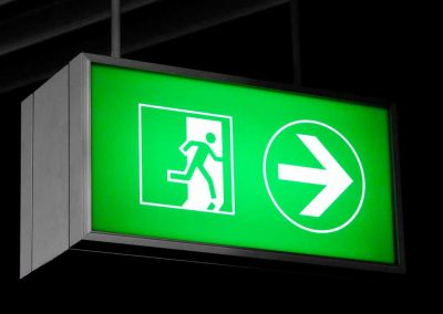 lightbox led directional sign