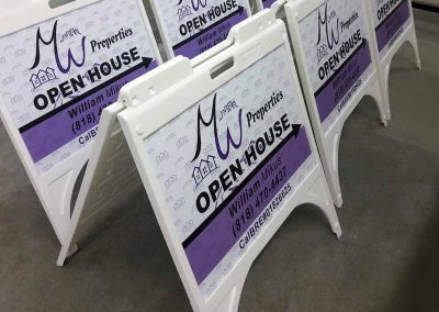 open house stand signs