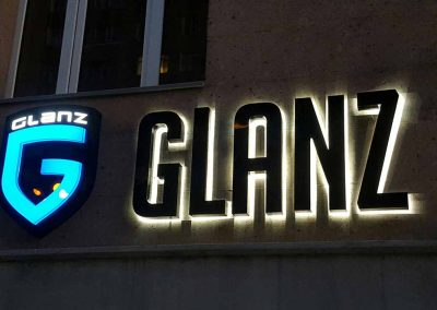 outdoor light box letters