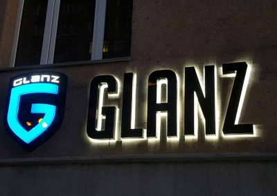 outdoor lighted letters for buildings