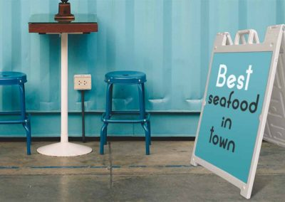 stand signs for restaurants