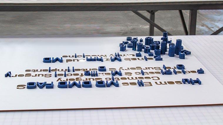 3D letter installation