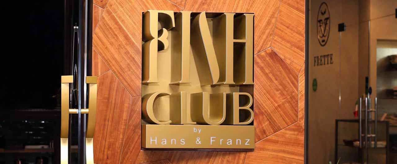 FISH CLUB commercial sign on plywood- Front Signs