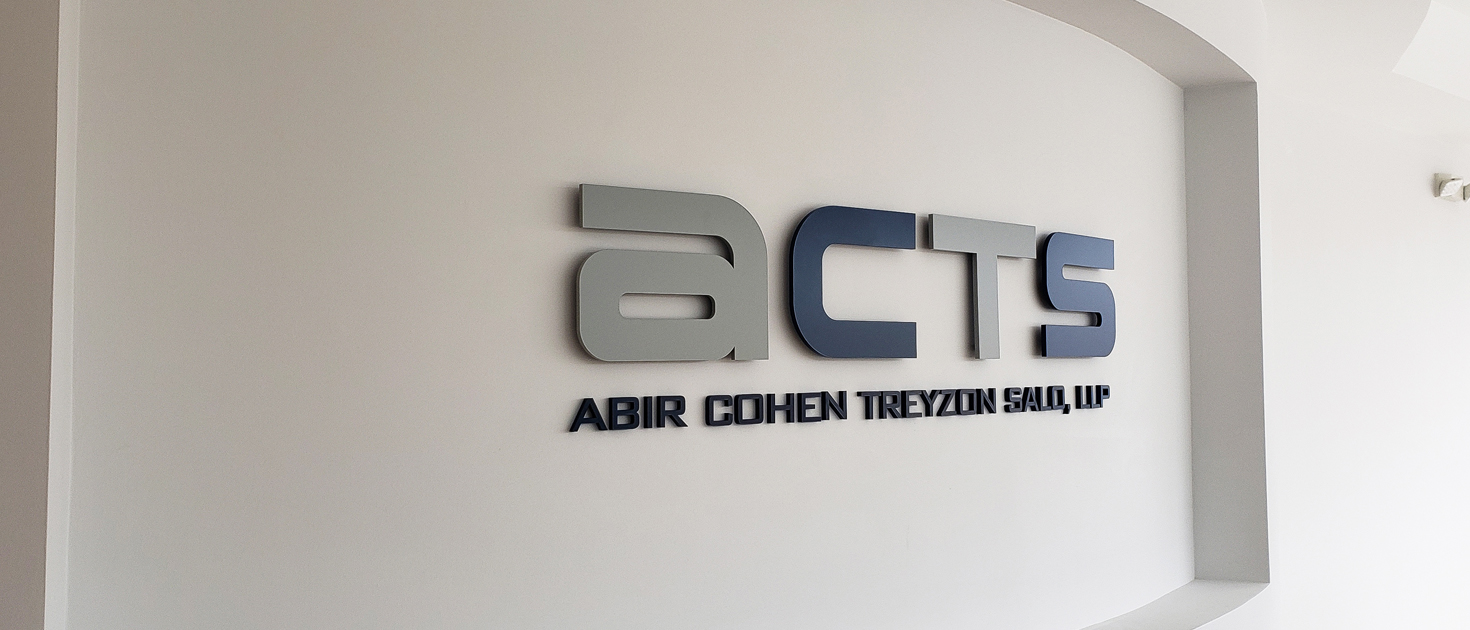 ACTS indoor acrylic 3d letters