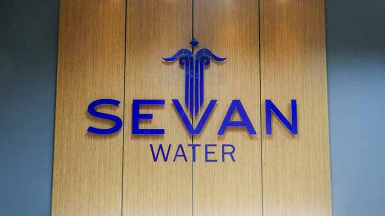Acrylic Interior Sign for our customers at Sevan Water