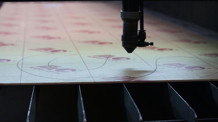 Laser in-house Cutting process of Acrylic Sheet