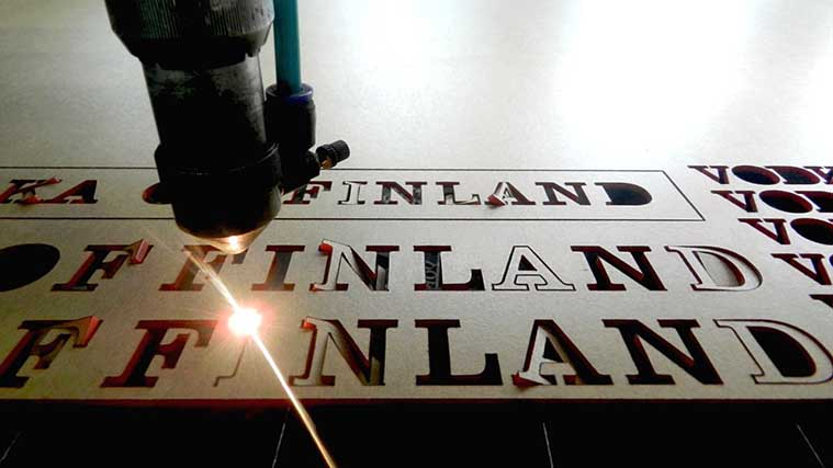 The Cutting process of Acrylic Letters with Laser Cutting machine