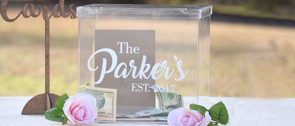 the Parker's acrylic card box