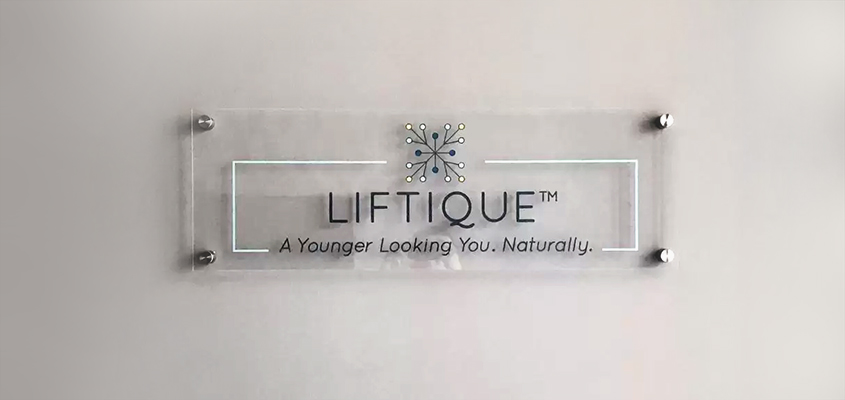 Liftique sustainable marketing board made of acrylic material