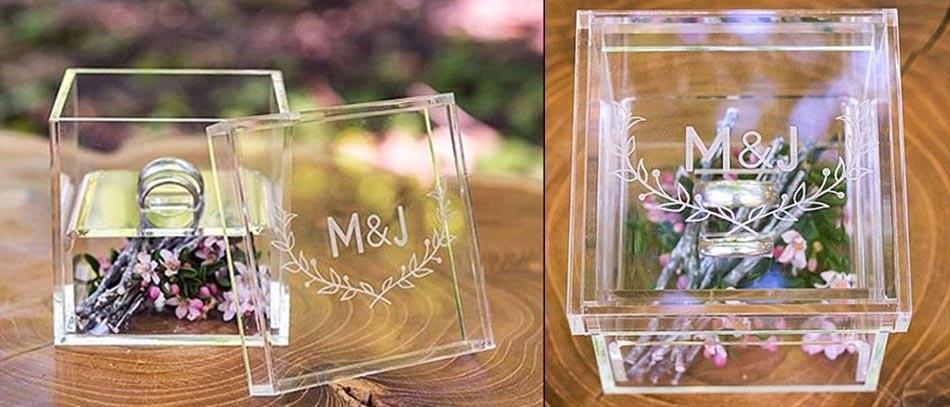 custom wedding acrylic ring box