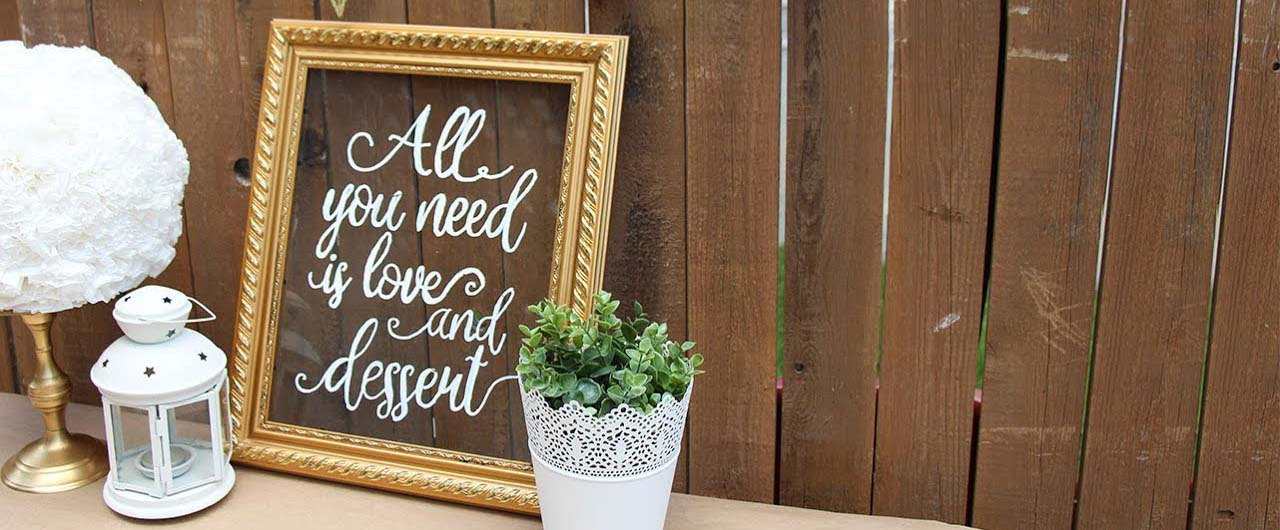 all you need is love wedding sign on acryl