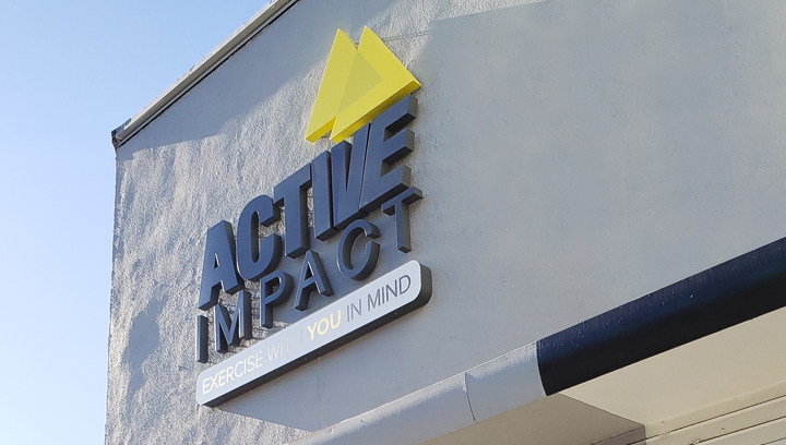 Active Impact flush mounted channel letters