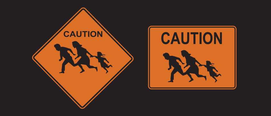Caution alert sign