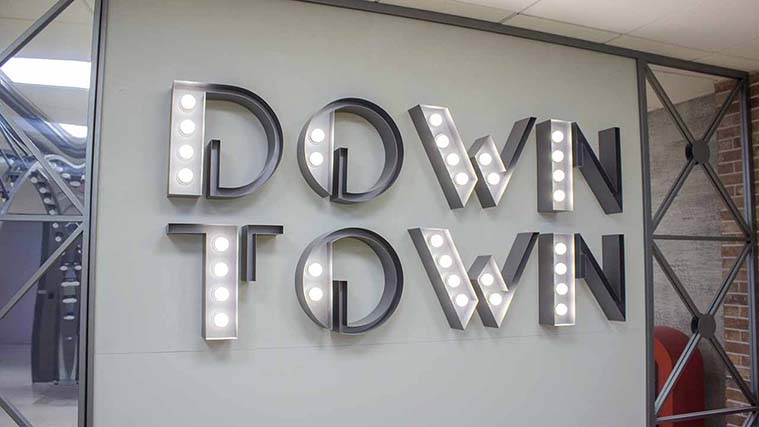 Illuminated Marquee Letters for an interior decoration