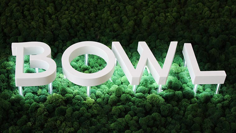 Reverse lit Aluminum Channel Letters for Sustainabowl