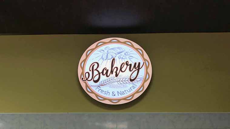 Acrylic Interior Sign for the promotion of a Bakery