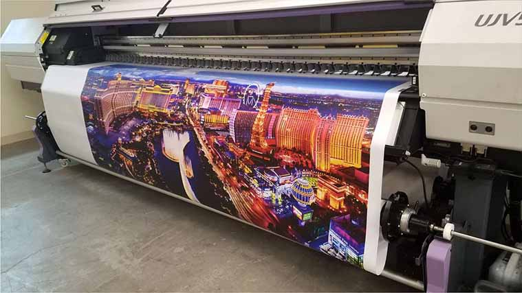 Banner in printing process