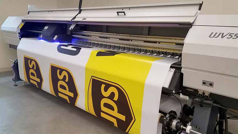 Banner printing for UPS