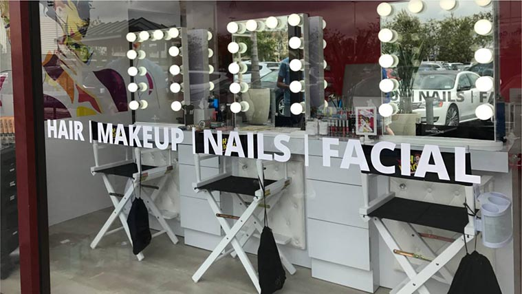 Beauty salon vinyl letterings