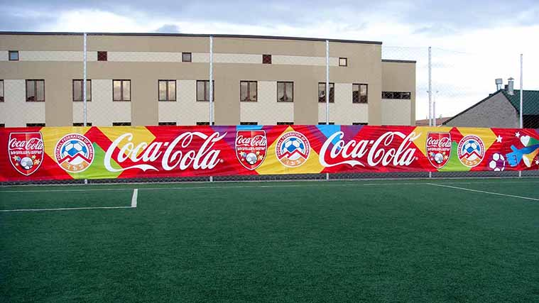 Big Printed promotional Vinyl Banner for Coca-Cola