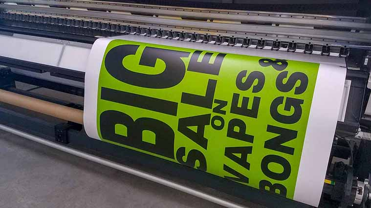 Customized BIG SALE Decal in-house printing process