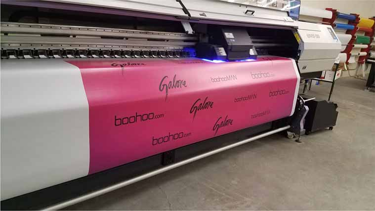 Boohoo banner printing