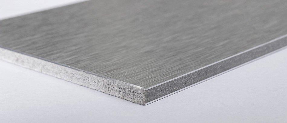 brushed aluminum panel sheet