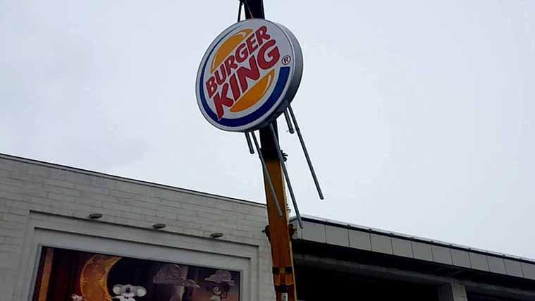 Burger King Lightbox Sign