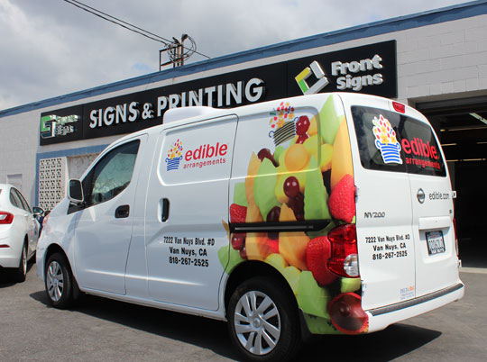 Business advertising with car wrap