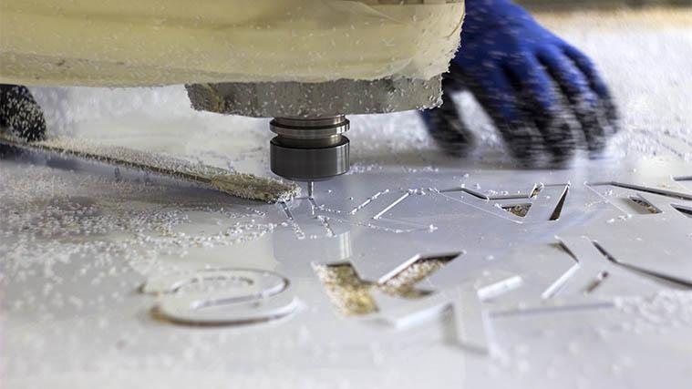 CNC Milling aluminum sign