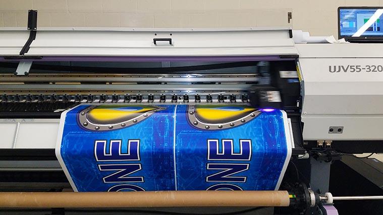 Car decal printing process