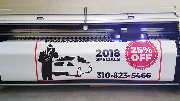 Car service banner printing