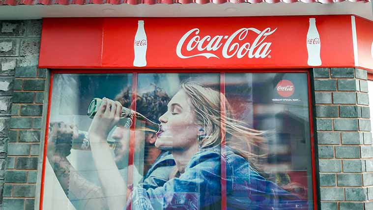 Printed Window Decals for the Coca-Cola advertisement