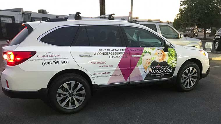 Custom Opaque Vinyl Vehicle Wrapping  for a Concierge Service car