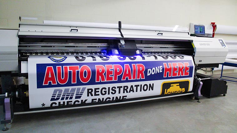 Large Vinyl Banner printing for AUTO REPAIR