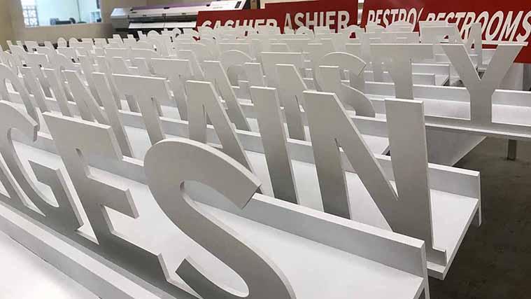 Custom-cut PVC Letters