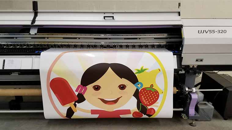 Printing a Custom Vinyl Decal for decorative purposes