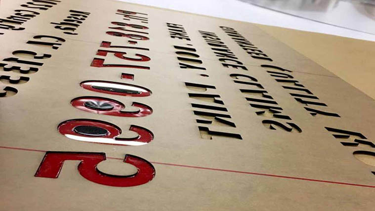 Cut Acrylic Letters
