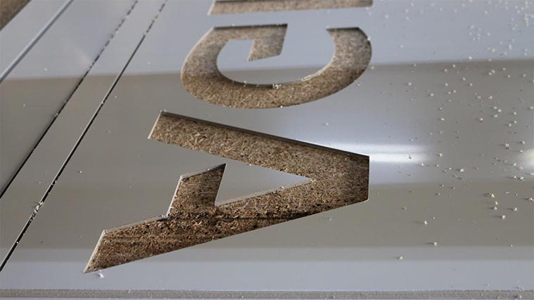 Cut aluminum letters
