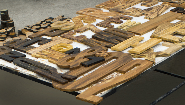 Cutout Wooden Letters
