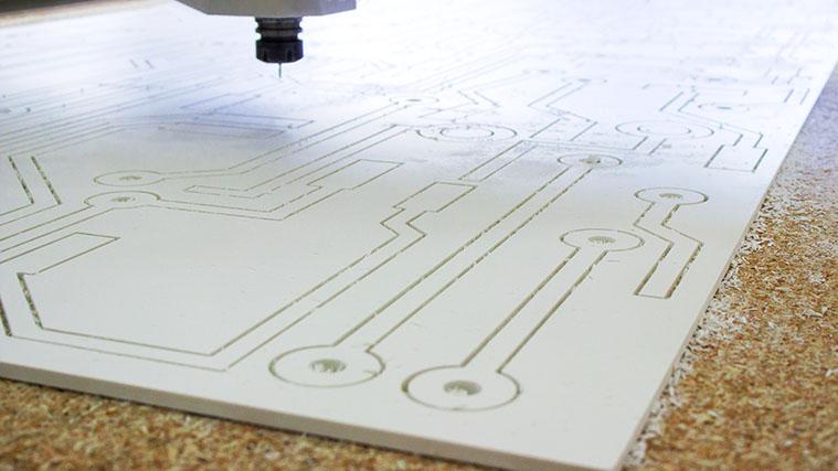 Cutting a PVC sign